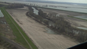 Aerial view near Levee L575 at 2011 setback, Apr. 15, 2019