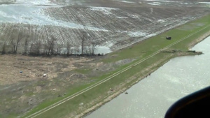 Aerial view of Levee L594 Apr. 15, 2019