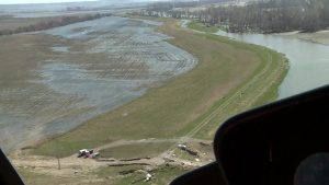 Aerial View of Levee L601 Apr. 15, 2019
