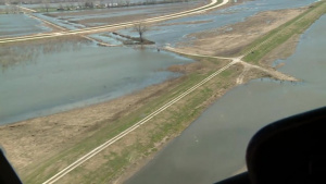 Aerial View of Levee L611-614 Near Highway 34 to Downstream End Apr. 15, 2019