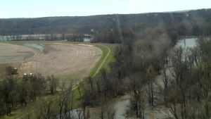 Aerial View of Levee L611-614 Near MidAmerican Energy