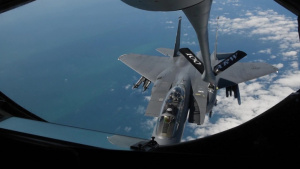 100th Air Refueling Wing Refuels F-15E Strike Eagles