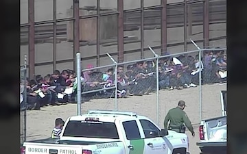 Group of 111 from Central America surrender to Border Patrol Agents near San Luis, AZ