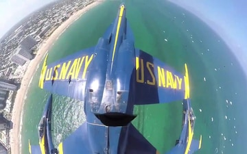 Blue Angels Double Farvel Over Fort Lauderdale Beach