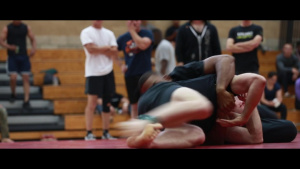 U.S. Marines compete in the Commanding General's Cup Individual Grappling Tournament