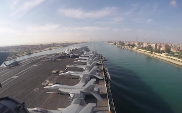 Abraham Lincoln Carrier Strike Group Transits Suez Canal
