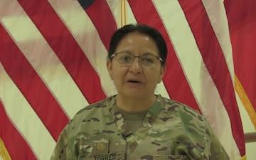 Maj. Carmen Torres Mother's Day Greeting