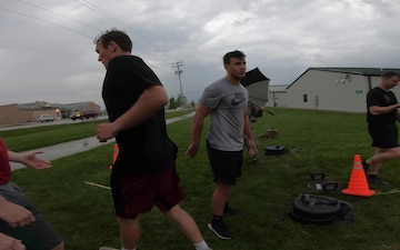 Indiana University Rugby conducts ACFT