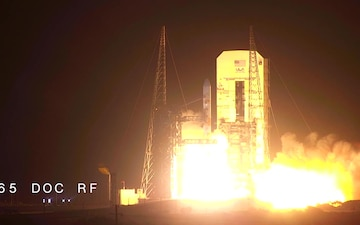 Tenth Wideband Global SATCOM Launch to Space (w/ lower third graphics)
