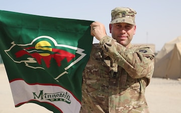 Sgt. 1st Class Allord Shouts out to the MN Wild