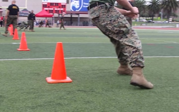 B-Roll: U.S. Marines participate in the Staff Noncommissioned Officer Academy Director's Cup Challenge