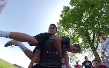IU Rugby Builds Camaraderie at Camp Atterbury