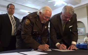 Mutual Aid Agreement Signing with Civilian Emergency Personnel