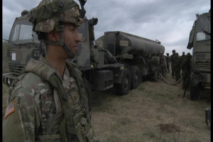 Canadian and U.S. Soldiers Conduct Refuel Mission