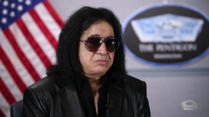 Gene Simmons at the Pentagon