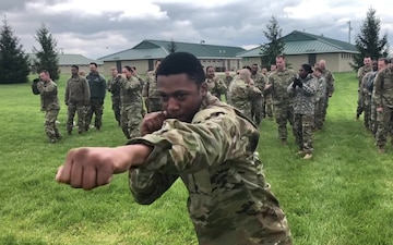 38th ID soldiers train in hand-to-hand combat techniques