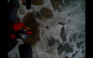 Coast Guard rescues two stranded by high tide at Ecola State Park