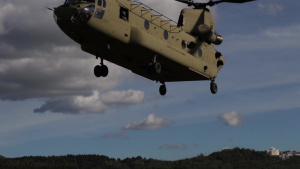 173rd IBCT (A), 1st CAB practice AGMV Sling Load Training During Excercise Immediate Response 19