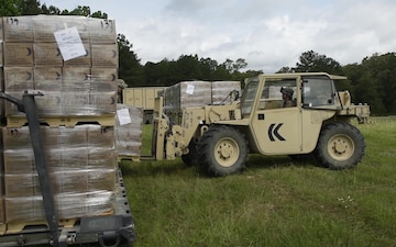 186th Brigade Support Battalion Supplies 86th Infantry Brigade Combat Team (Mountain) at JRTC (B-Roll)