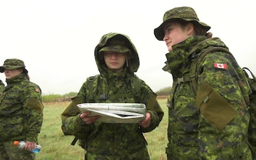B Roll of 654th Land Navigation Training