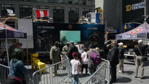 Navy Recruiters Visit Times Square and Pier 88