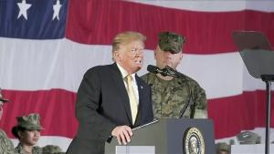 Trump Talks With U.S. Troops in Japan