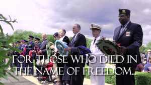 Madingley Memorial Ceremony-75th Anniversary of WWII