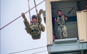 22nd Mobile Public Affairs Detachment Troopers Take a Tower Leap Into 82nd Airborne Division's All American Week