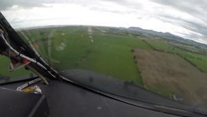 KC-135 cockpit view landing at ACE 19