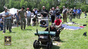 USAMU Soldiers help teach marksmanship techniques to competitors