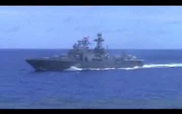 Russian Navy Ship Maneuvers Unsafe, Unprofessional