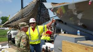 Chief of Engineers visits sandbag operations