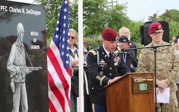 Pfc. Charles DeGlopper Monument Ceremony