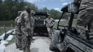 Illinois National Guard Soldiers Conduct 24 Hour Levee Patrols