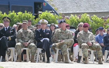 D-Day 75 Iron Mike Ceremony (BROLL)