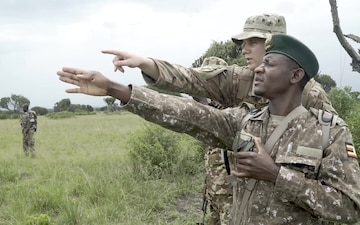 U.S. Army Conducts Land Navigation Training for Uganda Wildlife Authority
