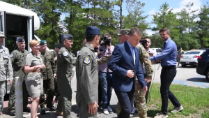 Poland Minister of Defense Visits 33rd FW B-Roll Stringer Part I