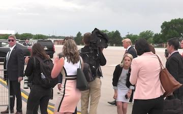 President Trump at Offutt AFB