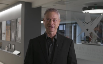 Garry Sinise giving 244th US Army Birthday greetings