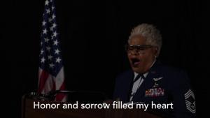 """Old Glory"" Presented By Retired U.S. Air Force CMSgt Deborah Rothwell"