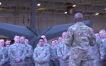 Chief Master Sergeant of the Air Force Visits Eielson