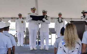 B Roll: Coast Guard Cutter Walnut holds change of command ceremony