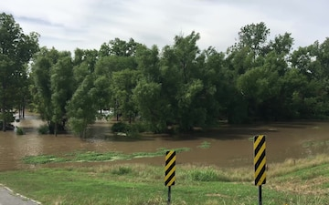 Flood Waters Remain High From the Arkansas River