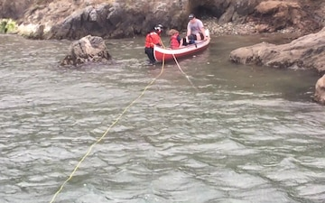 Coast Guard Assist 1 Adult and 3 Children in Bodega Bay