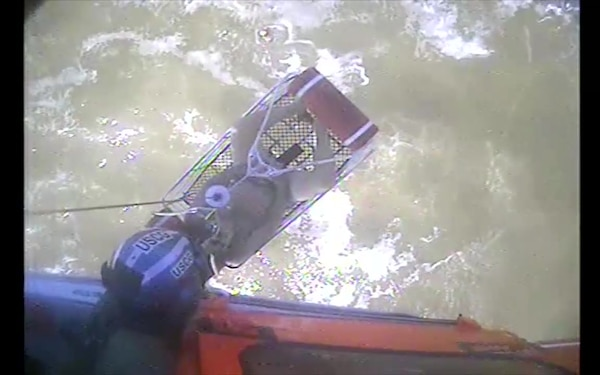 VIDEO RELEASE: Coast Guard rescues boater after vessel washes ashore near Port Aransas, Texas