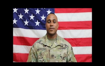 1st Lt. Dashawn Marshall Washington Nationals Shout Out