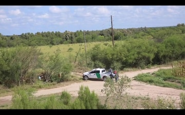 CBP Air and Marine Operations ASTAR helicopter on patrol locates group of illegal aliens