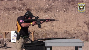 John Browning demonstrates multigun marksmanship skills