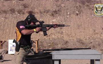 John Browning demonstrates multigun marksmanship skills