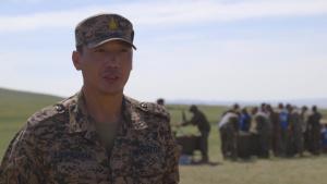 *B-Roll* Mongolian officer discusses how Khaan Quest 2019 strengthens multinational relationships
